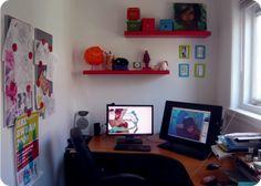 loish blog - new workspace with cintiq