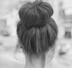 #hair #messy #bun