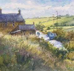 Painted Books, Watercolor Paintings, Watercolors, Location History, Cold, Cottage, North Yorkshire, Late Summer, Lovely Things