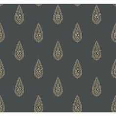York Wallcoverings Kashmir x Teardrop Paisley Wallpaper Color: Black / Beige Paisley Wallpaper, Brick Wallpaper Roll, Embossed Wallpaper, Of Wallpaper, Designer Wallpaper, Discount Wallpaper, Wallpaper Warehouse, Contemporary Wallpaper, Burke Decor