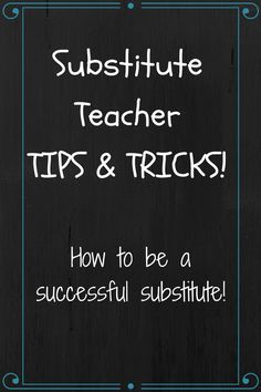 7 classroom management secrets for substitutes pinterest anyone who has been a substitute teacher knows that with all the perks there are a fandeluxe Images