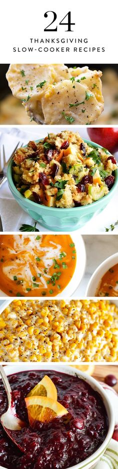 24 Thanksgiving Recipes You Can Make in a Slow Cooker via @PureWow