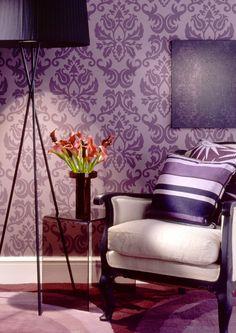 Damask Walls #purple