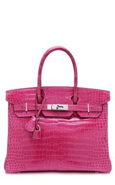 64e879d45b 30Cm Shiny Fuschia Porosus Crocodile Hermes Birkin by Heritage Auctions  Special Collections for Preorder on Moda