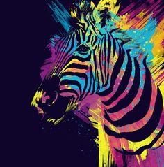 Zebra Splatters Colorful Animals Art Print by olechka Zebra Painting, Zebra Art, Painting Art, Watercolor Horse, Watercolor Paintings, Splatter Art, Scratch Art, Colorful Animals, Animal Paintings