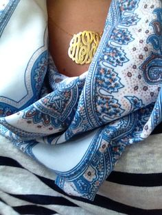 Monograms are a girl's best friend.