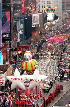 macys thanksgiving day parade- new York. Hopefully i'll be seeing this in 2014!