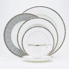 Bundle-32 Rochelle Platinum Dinnerware Collection (2 Pieces) - http://www.specialdaysgift.com/bundle-32-rochelle-platinum-dinnerware-collection-2-pieces/