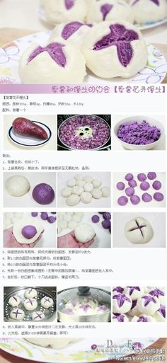 purple potatoes steamed buns