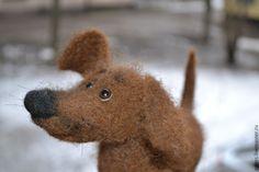 Купить Собачка для Марии - коричневый, собачка, такса, игрушка собака, собака, собака из шерсти, подарок