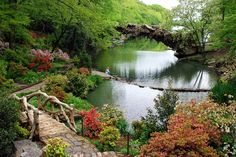 The Old Mill park in full bloom in Little Rock, Arkansas, one of my favorite places to visit.