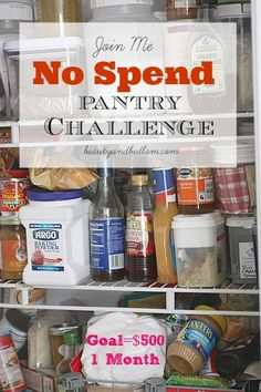 My goal? Save $500 this month during my No Spend Pantry Challenge Month. Yes, it's completely possible!  I do this every January and Sept.
