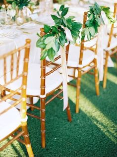 6 Creative Ways to Decorate Bride and Groom Chairs for Your Wedding Reception | Brides