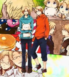 Hetalia - Canada / America Like brothers that see each other but are too different to want to communicate