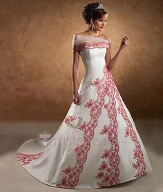 wedding gown with embroidery - http://herbigday.net/wedding-gown-with-embroidery/