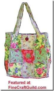 Homemade Quilted Bags Patterns Free | Reversible Patchwork / Rag Bag / Quilted Tote Free Sewing Pattern