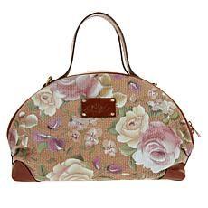 """As Is"" Patricia Nash Fiora Dome Satchel - Chalk Wht Tooled Satchel Purse, Leather Satchel, Leather Handbags, Crossbody Bag, Luxury Handbags, Purses And Handbags, Patricia Nash, Leather Design, Handbag Accessories"