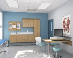From hospitals to long-term care facilities and clinics of all types, Harmoniä collection by Lacasse offers modular healthcare furniture solutions for nursing stations, patient rooms, waiting areas, etc. Clinic Interior Design, Clinic Design, Healthcare Architecture, Healthcare Design, Design Clinique, Office Storage Furniture, Medical Office Design, Hospital Design, Doctor Office