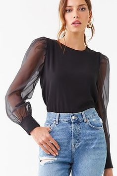 Forever 21 is the authority on fashion & the go-to retailer for the latest trends, styles & the hottest deals. Shop dresses, tops, tees, leggings & more! Short Graduation Dresses, Sleeves Designs For Dresses, Fashion Project, Sandro, Blouse Designs, Long Sleeve Tops, Casual Dresses, Fashion Outfits, How To Wear