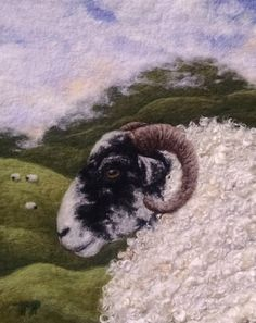 Felted Artwork-Original felted landscapes by Tracey McCracken Palmer. Wet felting and needle felting techniques are used to create beautiful works of art. Wool Needle Felting, Needle Felted Animals, Felt Animals, Felted Wool, Sheep Crafts, Felt Crafts, Wet Felting Projects, Felt Projects, Sewing Projects