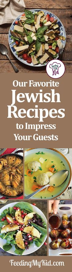 Here are some of our all-time favorite Jewish recipes! Anytime I am hosting a family get together or big celebratory meal, I make a number of these Jewish recipes.  These are perfect for Jewish holiday themed dinner parties. You will definitely wow your guests.