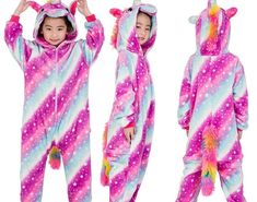 SALE New Winter Flannel Kids Pajamas Kigurumi Unicorn Halloween Onesies  Jumpsuit Baby Girl Pyjama Animal Children 946e925ef