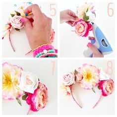 DIY Flower Headband by Alison Sadler of The People Shop DIY Projects and Workshops with The People Shop