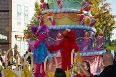Thanks Heather for this great picture of Abby and Elmo on our Birthday Cake float in celebration of Sesame Place's 30th Birthday in 2010!