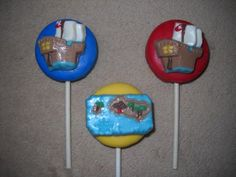1 chocolate treasure map ship oreo pirate inspired lollipops lollipop | sapphirechocolates - Edibles on ArtFire