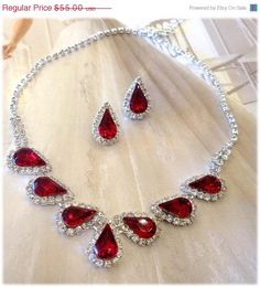 For my bridesmaids Wedding jewelry set bridesmaid jewelry set Bridal by GlamDuchess, $38.50