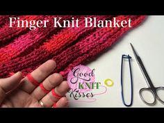 Finger Knit Blanket (or wide scarf) How to connect - http://www.knittingstory.eu/finger-knit-blanket-or-wide-scarf-how-to-connect/