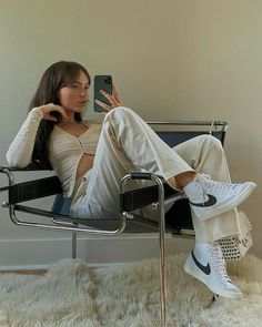 Glamouröse Outfits, Blazer Outfits, Cute Casual Outfits, Summer Outfits, Fashion Outfits, Nike Blazers Outfit, Look Blazer, Mode Inspiration, Looks Style