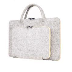 2016 New Felt Universal Laptop Bag Notebook Case Briefcase Handlebag Pouch For Macbook Air Pro Retina 11/12/13/15 Inch Men Women