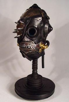 Crazy amazing leather steampunk-ish masks by Rob Bassett