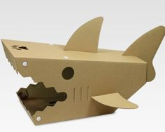 Japan Trend Shop - Shark House for Cats Cardboard Cat House, Cardboard Design, Cardboard Paper, Cardboard Crafts, Paper Toys, Woodworking Projects Plans, Teds Woodworking, Diy Bunny Toys, Pet Shark