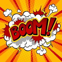 Buy Boom Word Comic Book Pop Art Vector Illustration by AlexanderPokusay on GraphicRiver. Comic Art, Comic Kunst, Comic Books, Comic Book Style Art, Art And Illustration, Bd Pop Art, Pop Art Design, Pop Art Boom, Book Design