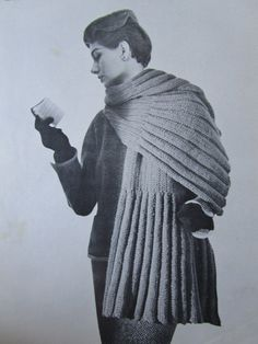 Knitted Stole Shawl Wrap Pattern - 1950's Vintage Pattern, Ladies' Knit Stole Shawl Wrap 3339. $3.00, via Etsy.