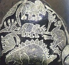 Ica Stone - dinosaurs depicted in South America - Piedras de Ica http://www.abradamus.com/p/toda-la-historia-en-construccion.html