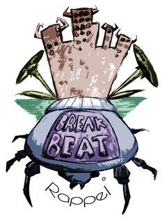 T-Shirt Design: Break Beat Beattle