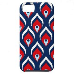 Red, White, & Blue Dragon Scale iPhone 5 Covers