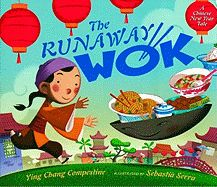 The Runaway Wok by Ying Chang Compestine. When a boy goes to the market to buy food and comes home with an old wok instead, his parents wonder what they'll eat for dinner. But then the wok rolls out of the poor family's house and returns from the rich man's home with a feast in tow.  $16.99 www.thematicattic.com
