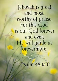Jehovah Is Worthy Of Our Praise! Praise The Creator Of The Heaven's and The Earth, And Everything In Them, Including Humans! Jw Bible, Bible Words, Bible Truth, Bible Scriptures, Scripture Verses, Spiritual Thoughts, Spiritual Quotes, Spiritual Values, Jehovah S Witnesses