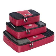 eBags Packing Cubes - 3pc Set Raspberry - via eBags.com! Great for keeping clothes organized in a suitcase