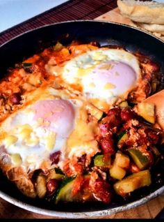 EGGS & BEANS IN SPICY PURGATORY http://recipes-only.com/eggs-beans-in-spicy-purgatory/