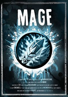 World of Warcraft: Mage Class Symbol print/poster by SodaArcade