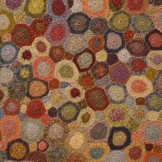 Sophie Digard - Crochet-Her stuff is just beautiful! I wonder if I could crochet something a little more sturdy into a small rug like this for just inside my front door? How beautiful would that be?