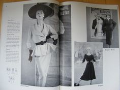 Vogue Pattern Book, June-July 1951 featuring Vogue 1140 by Jean Patou on the left page, 1138 by Jacques Heim and 1141 by Paquin on the right page