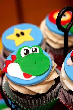Mario Gamer Party via Karas Party Ideas | KarasPartyIdeas.com #mario #boy #video #game #gamer #party #ideas (74)