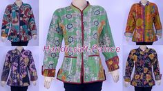 10 PC VINTAGE COTTON KANTHA WOMEN JACKET / COAT REVERSIBLE QUILTED WHOLESALE LOT #Handmade #BasicJacket