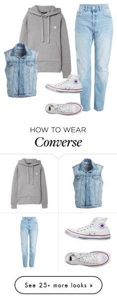 """Theo Raeken"" by samtiritilli666lol on Polyvore featuring Acne Studios, Frame and Converse"